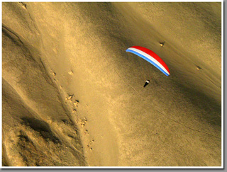 Tiviliche paragliding sunset session, Pisagua, Chile