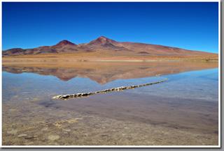Laguna Helada and Cerro Curutu, Pampa Loyoques, Puna de Atacama, Chile