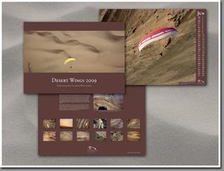 Desert Wings 2009 - paragliding poster calendar