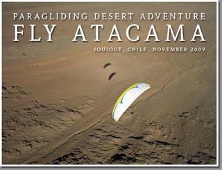 Leonardo Laserna paragliding Junin cliffs north of Iquique, Chile