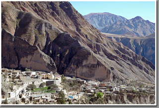 Iruya village in the mountains of Sierra de Zenta, Salta Province, Argentina