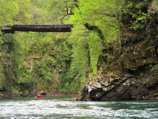 Packrafting in Hua Hum gorge, Chile and Argentina border