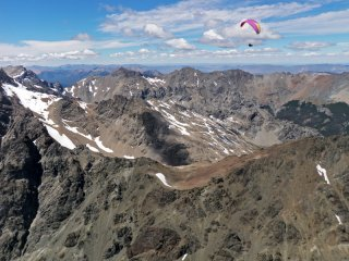New Years over Patagonian Andes - XC Paragliding over the Andes, El Bolson, Patagonia, Argentina