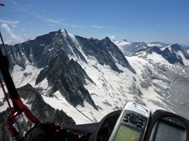 The Glacier Flight - Paragliding over glaciers of Adamello range, The Alps, Italy