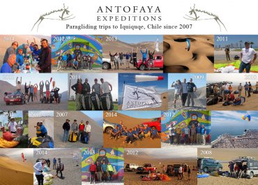 Since 2007 - The Tribute - History of Antofaya Expedition's paragliding trips to Iquique, Chile