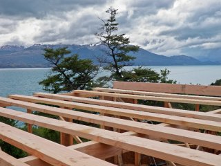 Casa Hexagon version 2.0 - Constructing a new house of Casa Hexagon, Lago General Carrera, Aisen, Patagonia, Chile