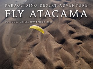 Fly Atacama with with us in 2011 - Steve Torgesen flying over Tiliviche Canyon and Cero Torro plateau, The Atacama Desert, Chile