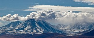 The Attempt - Winter view of volcanoes at Chilean part of Puna de Atacama, The Andes, Chile