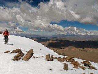 Volcano Tuzgle - The warm-up - Summiting Volcano Tuzgle 5530m (18,140ft), Puna de Atacama, The Andes, Argentina.