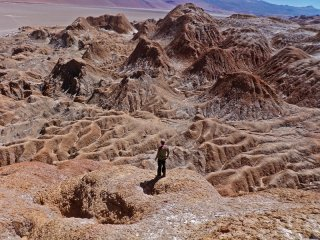 The Salar - Salt and mud mountains at the North-Eastern Salar Antofalla, Puna de Atacama, Argentina