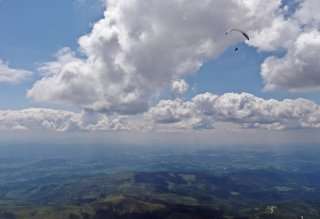 One flight, three countries - Paragliding over Carpatian Beskids mountains, Czech Republic