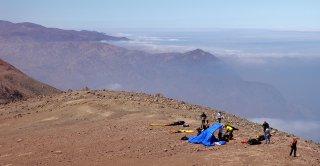 Antofaya XC Sky Challenge  Level 2 takeoff on the highest sea cliffs in the world, Tocopilla, The Atacama Desert, Chile