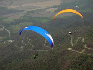 On the podium - Paragliding at Loma Bola during CAP 2012, Tucuman, Argentina