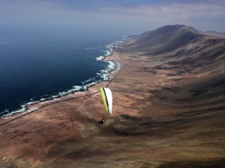 Iquique in reverse - the marvelous - Paragliding south of Iquique above Punta San Marcos, The Atacama Desert, Chile