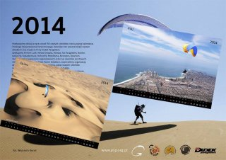 Calendar 2014 - 2014 Polish Paragliding Association calendar including Jarek's two photos from Iquique, Chile