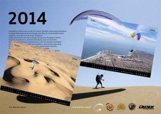 Calendar 2014 - 2014 Polish Paragliding Association calendar including Jarek's two photos from Iquique, Chile