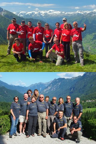 Smiling faces - Smiling faces of participants of the Austria and Slovenia paragliding tours 2014 organized by Antofaya Expeditions